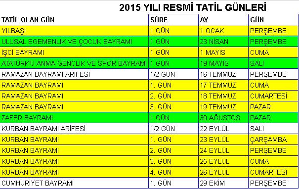 2015-Resmi-tatil-gunleri